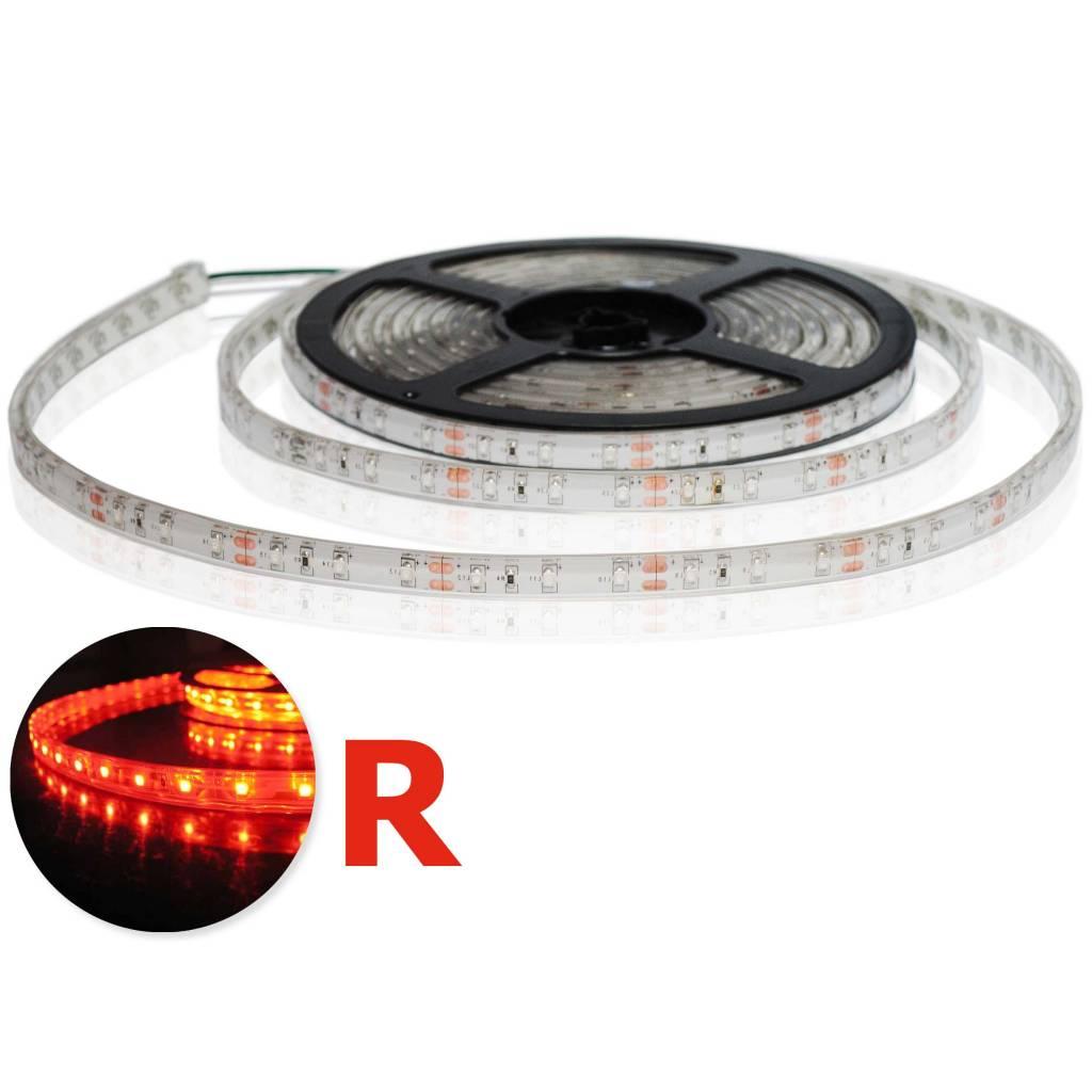 LED Strip Flexibel Waterdicht Rood per 50cm