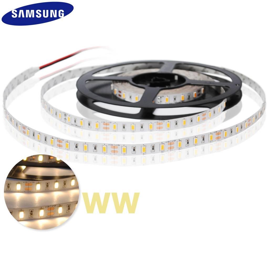 LED en bande auto-adhésive 5630 SMD 60 LED/m Blanc Chaud - par 50cm