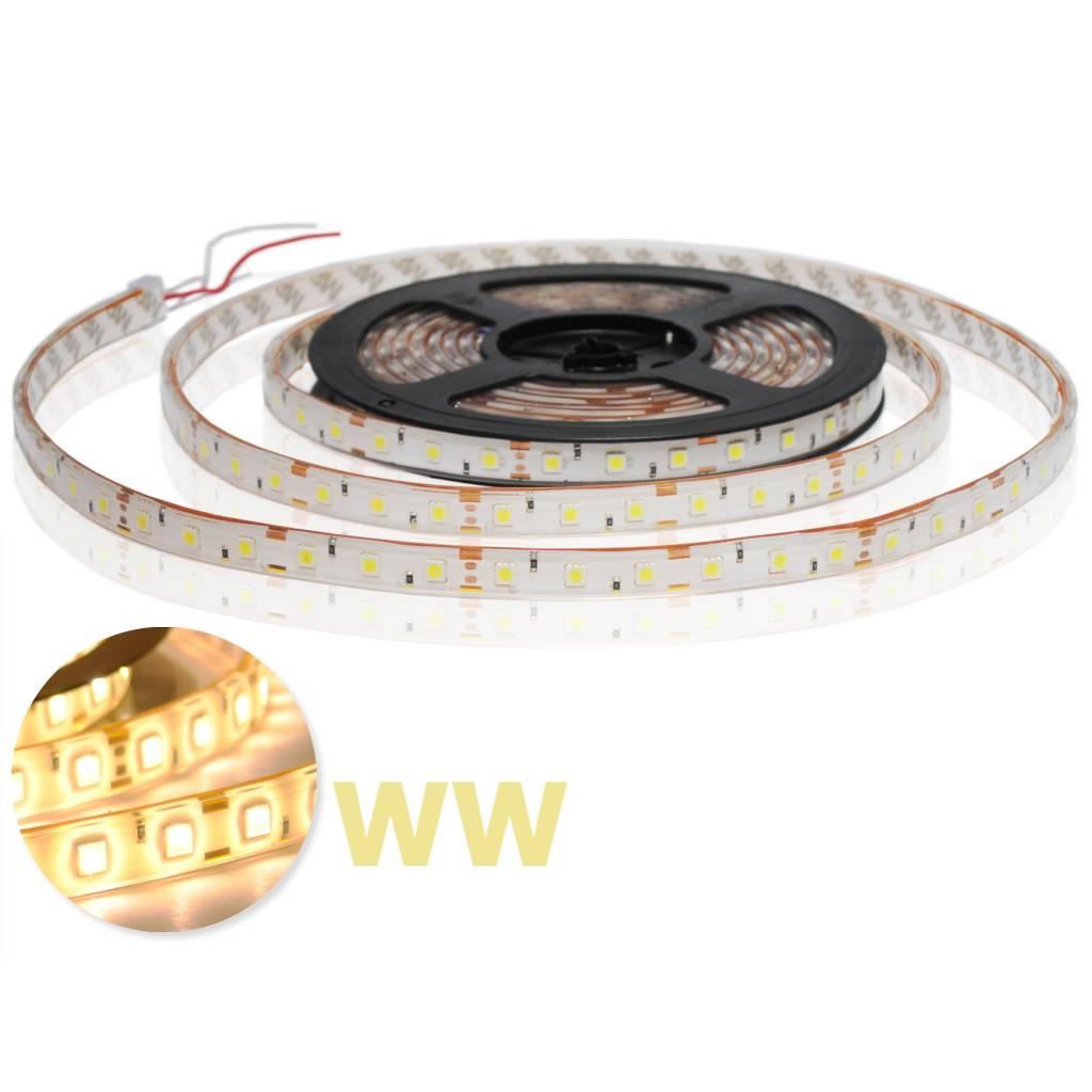 Striscia LED Impermeabile 5050 60 LED/m Bianco caldo - per 50cm