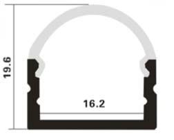 Profilo in alluminio arrotondato 1 Metro
