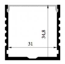 Profil en aluminium XL 1 mètre