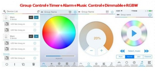 Bluetooth RGB Controller voor Android en iOS Smartphone