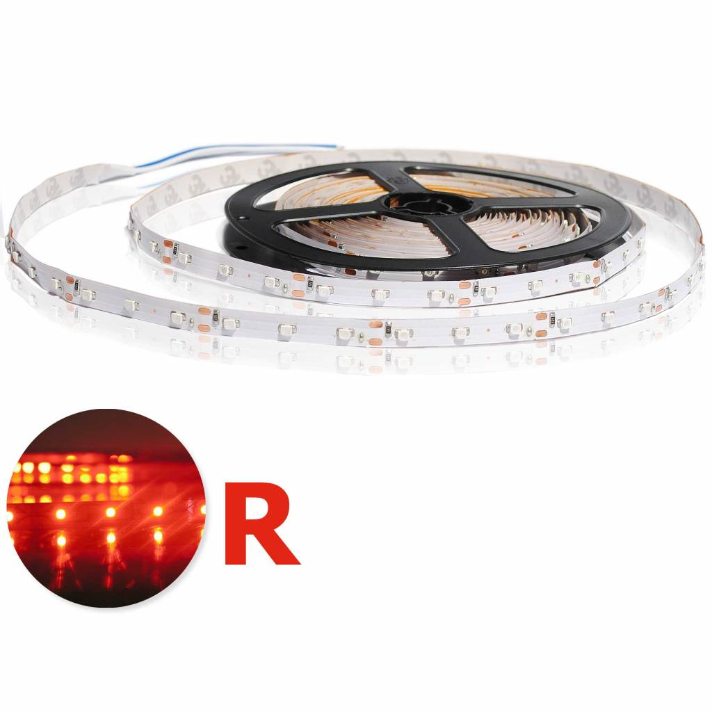 LED Strip flexible 120 LED/m Red - per 50cm