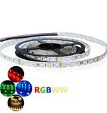 LED en bande auto-adhésive 60 LEDs/m RVB-WW Étanche (IP68) par 50cm