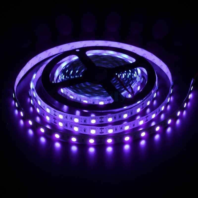 LED en bande auto-adhésive 5050 60 LED/m UV - par 50cm