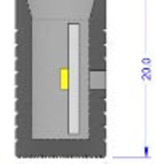 Einddop voor LED Neon Flex RGBW IP67