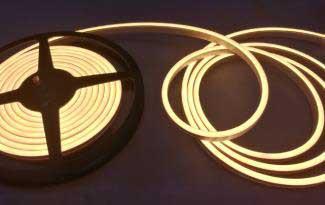 LED Neon flessibile Bianco Caldo 3000K 120 LED/m 3014 IP67 - per 50cm