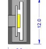 Squadretta di montaggio per LED Neon Flex Singolo colore IP67