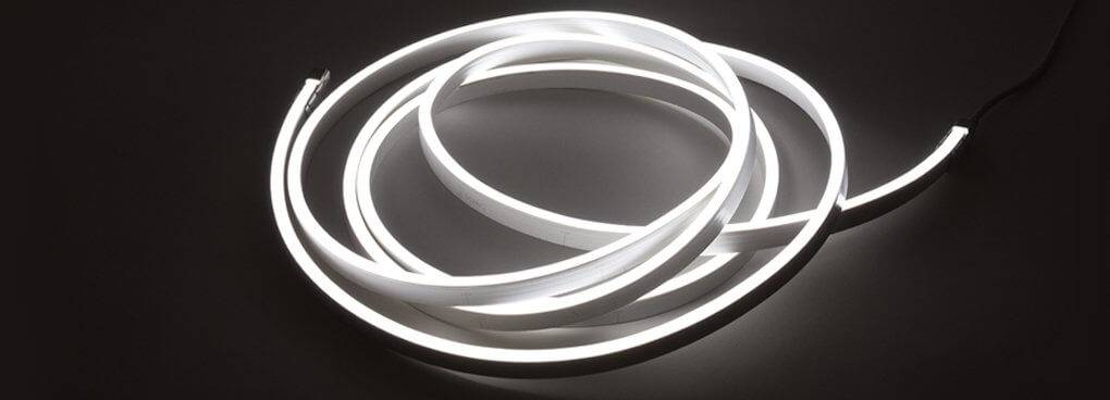 LED Neon Flex Weiß 6000K - 120 LED/m 3014 IP67 - je 50cm