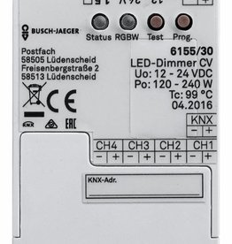 Controlador KNX para tiras de LEDs RGBW (4 canales)