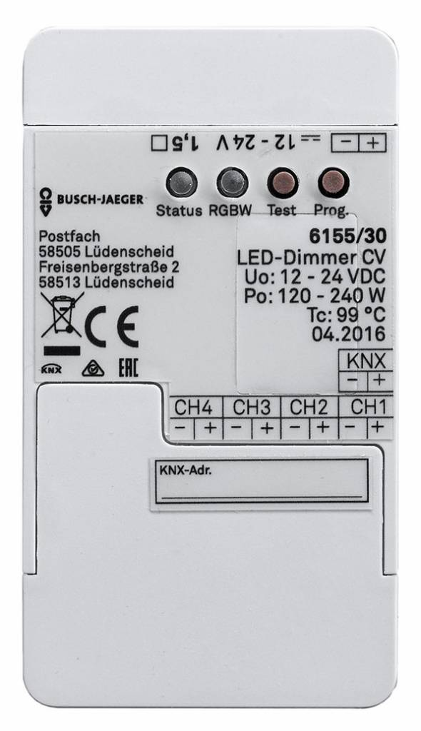 KNX RGBW LED Strip dimmer (4 canali)