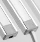 Perfil de aluminio 1 Metro 7mm de alto