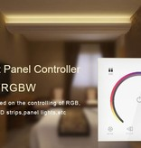 LED RGBW muurdimmer met touch-panel Wit