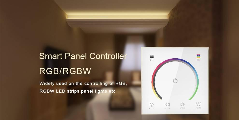 Contrôleur RGBW Mural avec Touch Panel Blanc