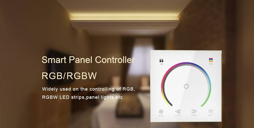 Wall-mount RGBW Controller with touch panel White