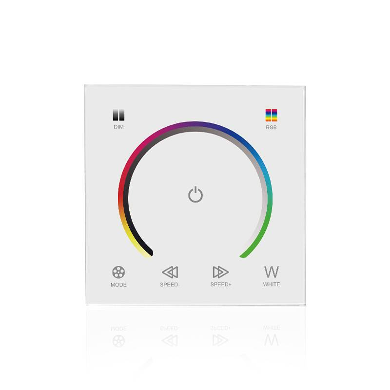 LED RGB muurdimmer met touch-panel Wit