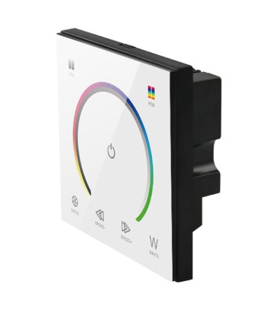 Wall-mount RGB Controller with touch panel White