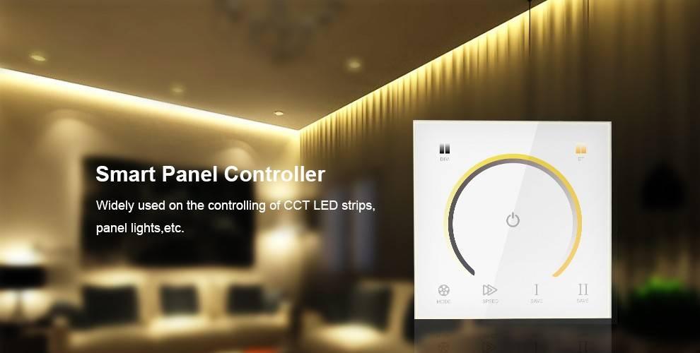 LED CCT Kleurtemperatuur muurdimmer met touch-panel Wit