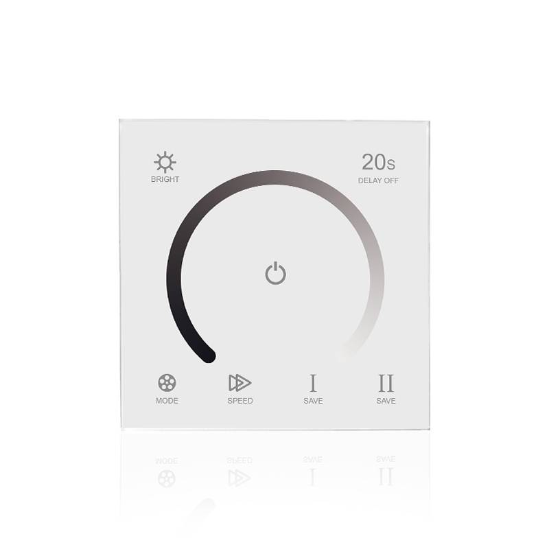 LED Wanddimmer Einfarbig Touch-Panel Weiß
