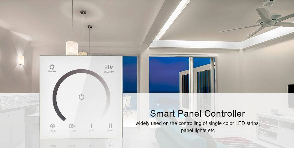 Wall-mount Single Color Controller with touch panel White