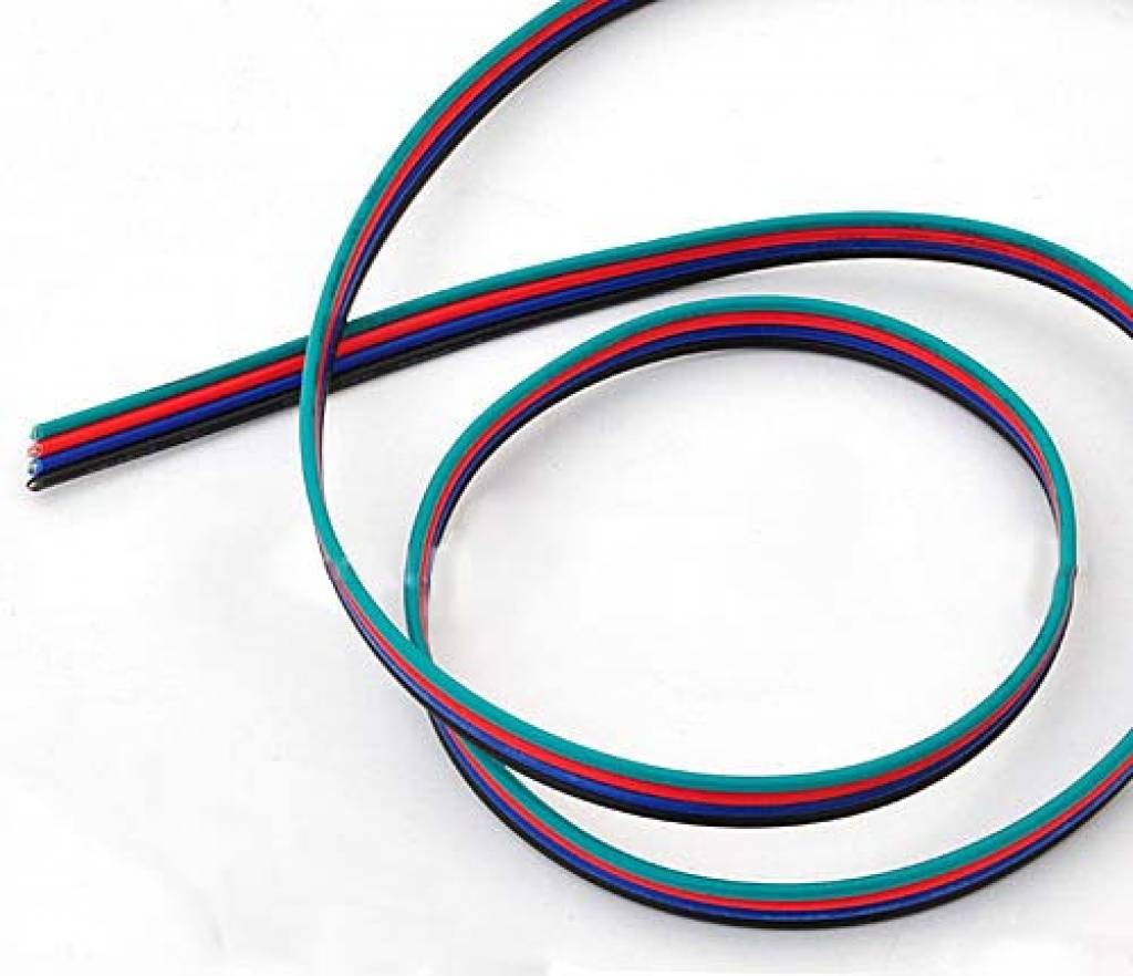 Electric wire (RGB 4 veins) per meter