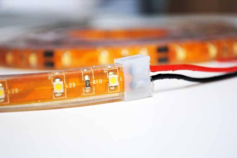 Striscia LED Impermeabile IP68 2835 120 LED/m - Bianco caldo ~ Bianco - temperatura di colore regolabile - per 50cm