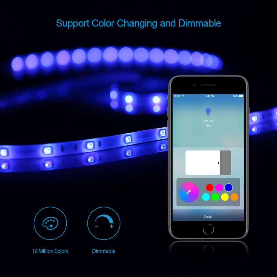 Koogeek Kit Striscia LED RGB Multicolore 2 metri