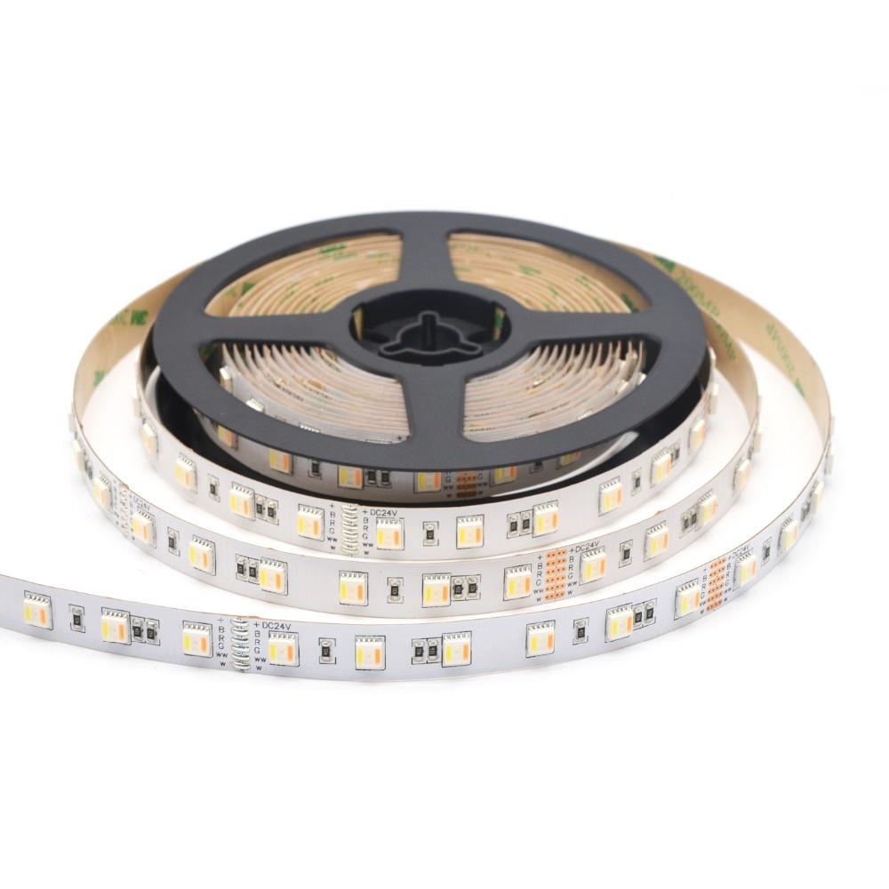 LED en bande 60 LEDs/m RVB-CCT 5 en 1 Puce - par 50cm
