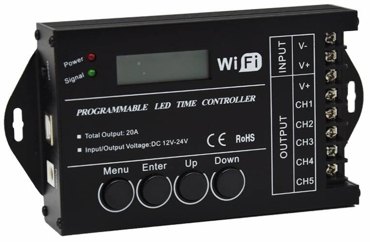 TC-421 24-hour timed LED Controller - 5 channels / PC Software / USB