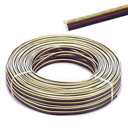 Fil électrique (RGBCCT, 6 veines) par mètre