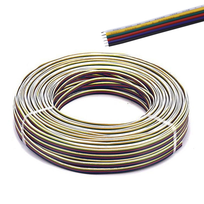 Electric wire (RGBCCT 6 veins) per meter