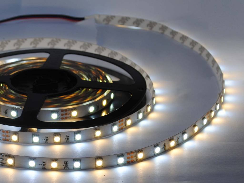 Tira LED estrecha 5mm 2835 192 LED/m - Blanco cálido ~ Blanco - por 50cm