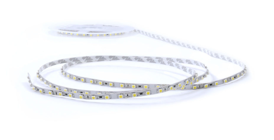 Striscia LED stretta 5mm 2835 192 LED/m - Bianco caldo ~ Bianco - per 50cm