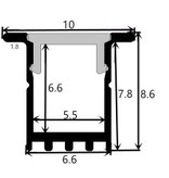 Perfil de aluminio 1009 - 1 Metro