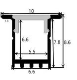 Profilo in alluminio 1009 - 1 Metro