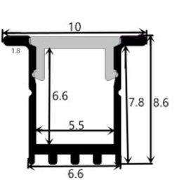 Profil en aluminium 1009 - 1 mètre
