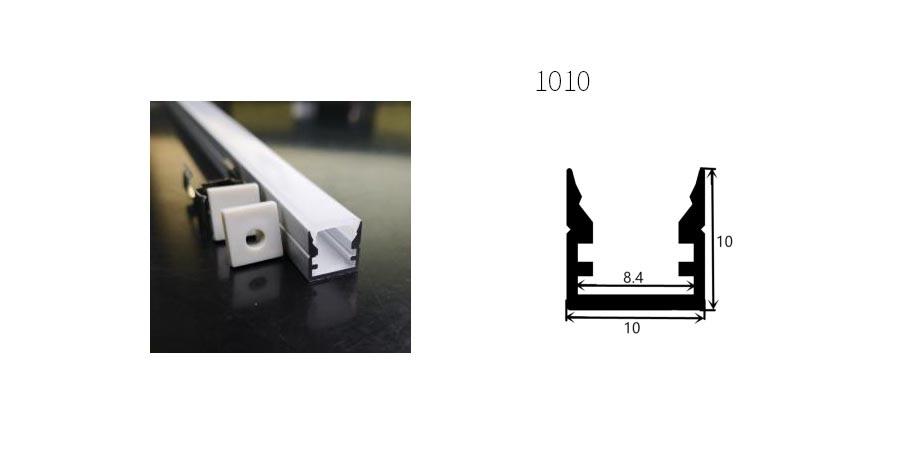 Aluminium profiel 1010 - 1 Meter