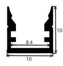 Aluminium profile 1010 - 1 Meter