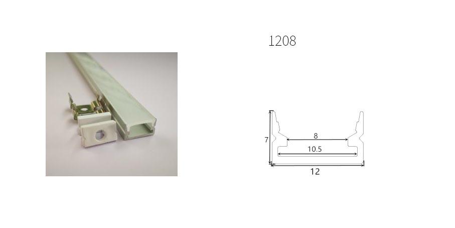 Profilo in alluminio 1208 - 1 Metro