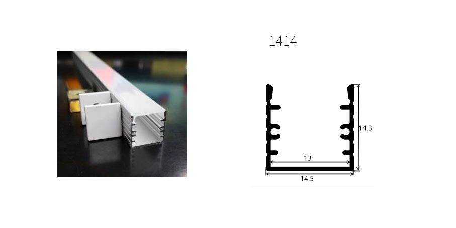 Perfil de aluminio 1414 - 1 Metro
