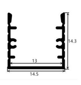 Aluminium profile 1414 - 1 Meter