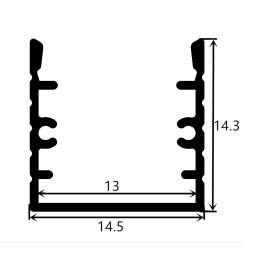 Profil en aluminium 1414 - 1 mètre