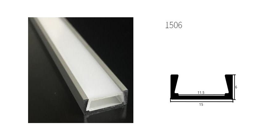 Perfil de aluminio 1506 - 1 Metro