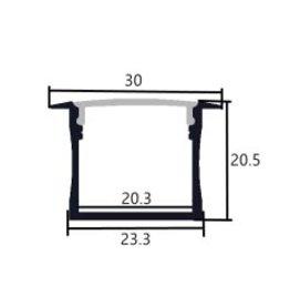 Aluminium profiel 3020 - 1 Meter