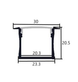 Profil en aluminium 3020 - 1 mètre