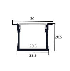 Perfil de aluminio 3020 - 1 Metro