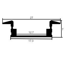 Profilo in alluminio 2507 - 1 Metro