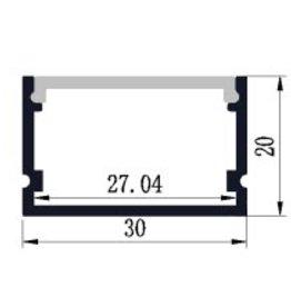 Perfil de aluminio 3021 - 1 Metro