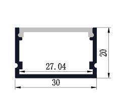 Profil en aluminium 3021 - 1 mètre