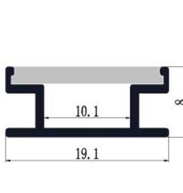 Perfil de aluminio empotrado para suelo 1908 - 1 Metro
